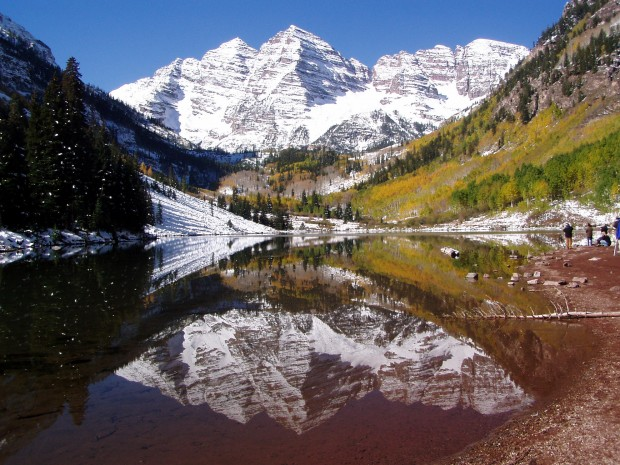 Maroon Bells above Aspen