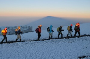 Near the summit of Kilimanjaro, June 2013