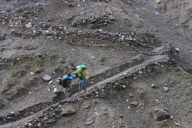 Porters along the Annapurna trek