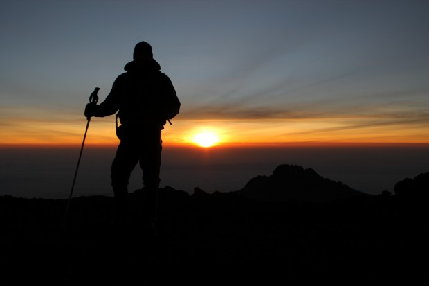 sunrise on the summit. Kilimanjaro September 2014