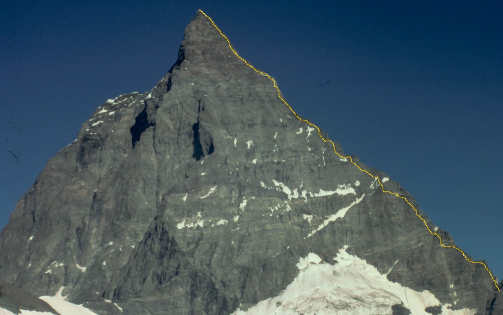 The Hornli ridge on the Matterhorn