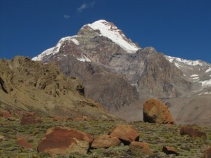 Aconcagua from the Plaza Argentina