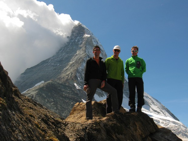 On the way to climb the Matterhorn Hornli ridge